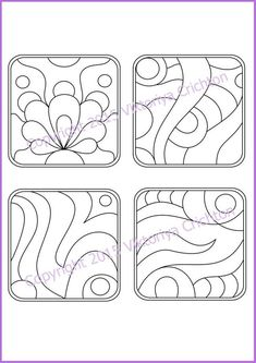 Strings for drawing zentangles. Print sheet and fill Tangle ready strings to get his zentangle. Doodles Zentangles, Zentangle Patterns, Mosaic Patterns, Zen Doodle, Doodle Art, String Art Templates, Tangle Art, Doodle Drawings, Machine Quilting