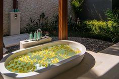 Bali Villa Photography - guest suite outside bath area