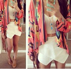 Obsessed with this gorgeous Skort! Summer fashion 2014. www.psiloveyoumoreboutique.com