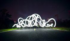 Taylor Pemberton's Light Graffiti Light Painting Photography, Shadow Photos, Solar String Lights, Light Art, Light And Shadow, Photo Manipulation, Body Painting, Fireworks, Modern Design
