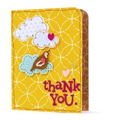 Thank You card using American Crafts' Hello Sunshine line!