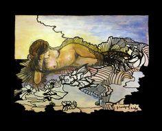 MERMAID painting Acryl auf Leinen, double canvas Moose Art, Painting, Animals, Linen Fabric, Animales, Animaux, Painting Art, Paintings, Animal