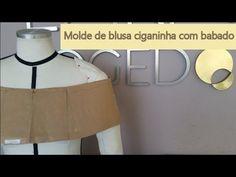 Como modelar blusa ciganinha com babado e franzido - YouTube