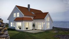 Bilderesultat for hus med tilbygg Norwegian House, Home Focus, Latest House Designs, Modern Farmhouse Exterior, Scandinavian Home, Architecture Details, Beautiful Homes, Home Fashion, House Plans
