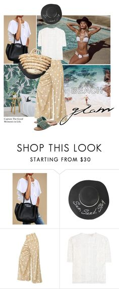 """""""Untitled #1861"""" by elena-777s ❤ liked on Polyvore featuring Beach Bunny, LULUS, Marc Jacobs and Mystique"""