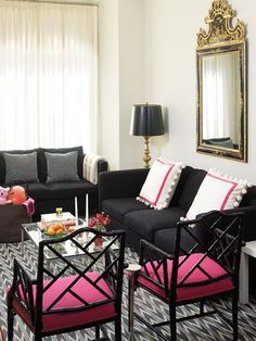 elegant and edgy black and pink