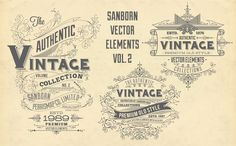 Vintage Design Templates made with 100% vector shapes set inspired by the beautiful designs of The Sanborn Insurance Map that the elements are great for use any design project, chalkboard design, apparel design, logo design, poster design, content creation, typographic pieces, labels & stamps or the web also in print etc.. Anything you can think of... =)