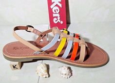 #Leather #Sandals #Flats Womens Ladies Girls Kickers #Summer #Shoes Size 39 EU /6 UK #Kickers #Sandals #Party