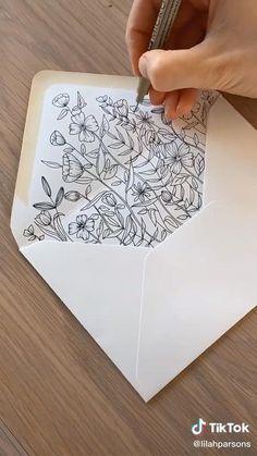 Paper Art, Paper Crafts, Pen Pal Letters, Envelope Art, Diy Cards, Doodle Art, Diy Gifts, Hand Lettering, Birthday Cards