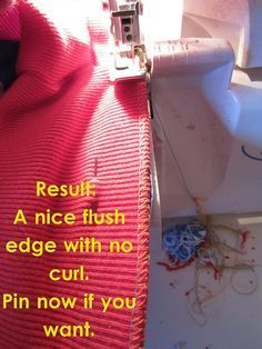 * Banding instead of Hemming. Plus lots of other helpful hints for sewing with knits.