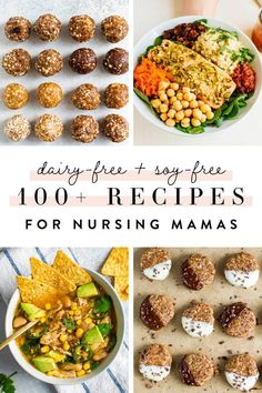 A resource for nursing moms who need to go on a dairy-free, soy-free diet with over 100 recipes that are soy-free and dairy-free, product recommendations and more. #breastfeeding #nursing #soyfree #dairyfree #newmom #healthyrecipes #eatingbirdfood Dairy Free Soy Free Recipe, Dairy Free Snacks, Dairy Free Yogurt, Dairy Free Diet, Gluten Free, Allergy Free Recipes, Good Healthy Recipes, Easy Dinner Recipes, Whole Food Recipes