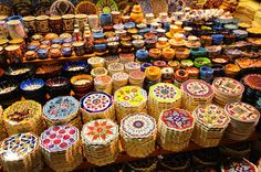 Shopping in Istanbul's Grand Bazaar - A colourful and exciting experience.