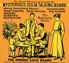 Ouija Boards: Paranormal Fantasies of the Subconscious Vintage Advertisements, Vintage Ads, Vintage Posters, Michael Bay, Tarot, Famous Monsters, Just A Game, Fortune Telling, Vintage Halloween