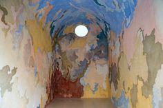 Porziuncola, by artist Edoardo Piermattei made of Coloured concrete on plasterboard 350 x 400 x 250 cm, 2016. photo by Thomas Brambilla gallery