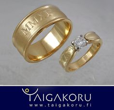 KVS91 Vihkisormukset, kultasormus, timanttisormus, vihkisormus. Wedding rings, gold ring, diamond ring, diamond. www.taigakoru.fi by TAIGAKORU, via Flickr