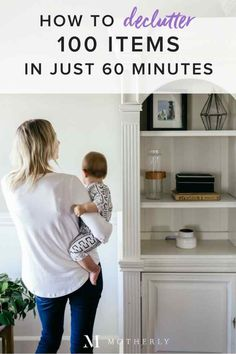 My husband just informed me that our clutter is driving him NUTS. Time to try this! Decluttering burst: Let go of 100 things in less than an hour - Motherly Getting Rid Of Clutter, Getting Organized, Household Organization, Organization Hacks, Storage Hacks, Organizing Tips, Organising, Planners, Declutter Your Life