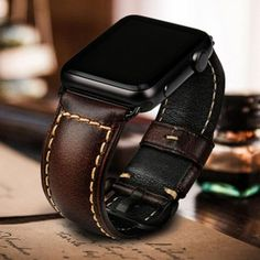 Alligator apple watch band and crocodile apple watch band strap for sale. all our apple watch series 4 bands are handcrafted by craftsmen. Apple Watch Accessories, Leather Accessories, Cool Watches, Watches For Men, Leather Watch Bands, Apple Watch Bands Mens, Apple Watch For Men, Apple Watch Leather Strap, Apple Watch Faces
