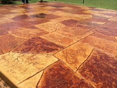 Castle Stone Stamped Concrete, Concrete Staining, with 6 earth tone colors, Stained and Sealed Concrete. Concrete Staining, Concrete Finishes, Stamped Concrete, Earth Tone Colors, Earth Tones, Hardwood Floors, Flooring, Overlays, Castle