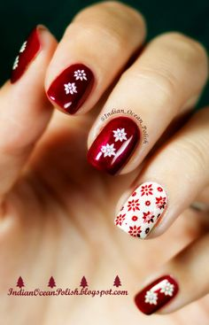 Christmas 2013 Nail Art Ideas. This one was with Suki Collection 07 :)