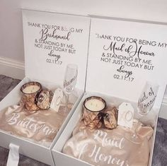 36 Ideas wedding gifts for bride and groom from bridesmaid t.- 36 Ideas wedding gifts for bride and groom from bridesmaid thank you for - Bridesmaid Thank You, Bridesmaid Boxes, Bridesmaid Proposal Gifts, Bridesmaids And Groomsmen, Groomsmen Proposal, Bridesmaid Gifts Will You Be My, Brides Maid Proposal, Wedding Day Bridesmaid Gifts, Ask Bridesmaids To Be In Wedding