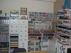 Wow. I don't think I could ever have a craft room that's this organized!