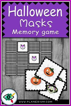 A colorful, fun matching/memory game designed specially for Halloween Holiday. Include 48 cards with Halloween masks' images. Holiday Activities For Kids, Fun Activities For Kids, Classroom Activities, Halloween Games, Halloween Activities, Second Grade Games, Kindergarten Games, First Grade Teachers, Memory Games
