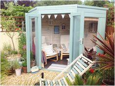 Beach style Waltons Corner Summerhouse created by our customer Kathryn #mydreamspace #sheshed #gardenretreat #ideas