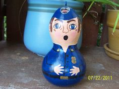 Policeman Gourd by inmypaintedgarden on Etsy, $12.95
