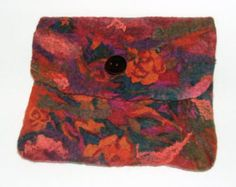 Felt Ipad case,  Nuno felted OOAK Handmade Ipad case Pumpkin orange