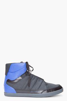 Y-3 //    Black Honja High Sneakers