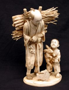 Japanese carved Ivory