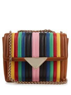 Elizabeth rainbow leather shoulder bag | Sara Battaglia | MATCHESFASHION.COM