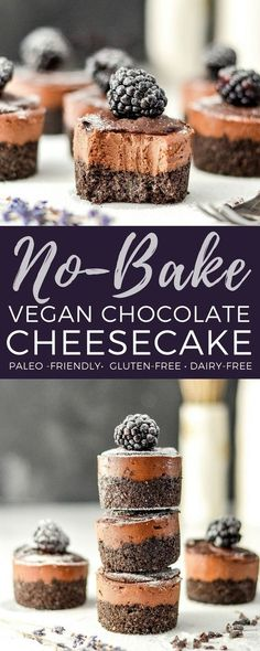 No Bake Vegan Chocolate Cheesecake