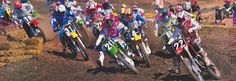 1990 Hangtown start Denny Stephenson (27), Erik Kehoe (19), Jimmy Gaddis (31), Steve Lamson (29), Jeff Matiasevich (20), Guy Cooper (4), Tallon Vohland (80) and Jean-Michel Bayle (22) | Flickr - Photo Sharing!