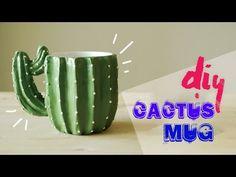 Easy DIY || Make Cactus Mug With Polymer Clay {Tutorial} - YouTube