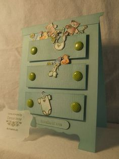 a Baby Card from ME! oh yes I actually made a baby card with Baby Bundle - Stampin Stresss Away with Carole'Anne