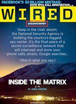 wired magazine bold logo and dark background