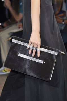 Gabriele Colangelo Spring 2014 #MFW — we want a clutch like this that shows off our manicures!