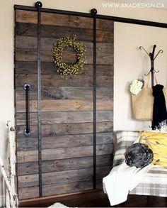 Reclaimed Wood/slat sliding barn door