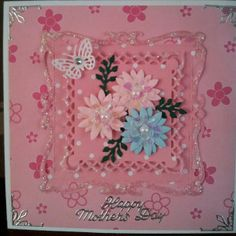 Handmade mother's day card nestabilities spellbinders dies captivating squares marianne creatables flowers die