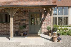 Meadowmead - Border Oak - oak framed houses, oak framed garages and structures. Oak Front Door, Front Door Porch, Back Doors, Porch Oak, Cottage Front Doors, Side Porch, Side Door, House With Porch, House Front