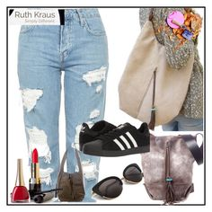 """""""Ruth Kraus 1"""" by aazraa ❤ liked on Polyvore featuring Topshop and adidas"""