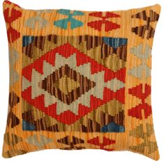 Handmade kilim cushion cover 48x48cm,P #337 by WitcheryRugs on Etsy