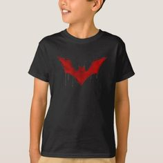 Superhero Red Batman Logo T-Shirt - cheap gifts diy cyo unique gift ideas