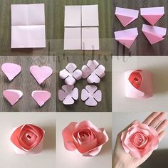 TUTORIAL: extra small rose. See posts below of extra steps. #decor #diy #tutorials #handmade #paperrose #paperroses #small #smallrose