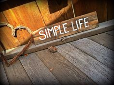Simple life hand painted home decor on by SawmillCreations on Etsy, $19.00
