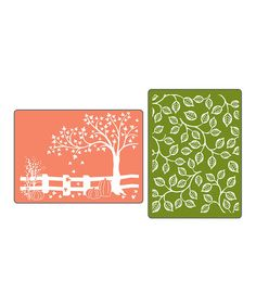 Autumn Textured Impressions Embossing Folder Set