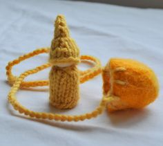 Waldorf Gnome Pod Necklace by thiscosylife on Etsy