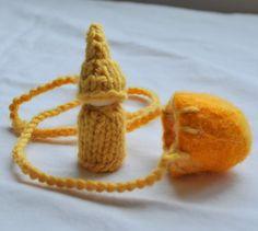 waldorf gnome pod necklace