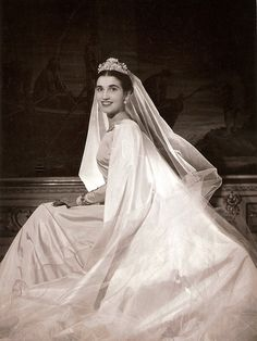 Carmen Franco y Polo, later Marchioness of Villaverde and Duchess of Franco - Dress by Balenciaga